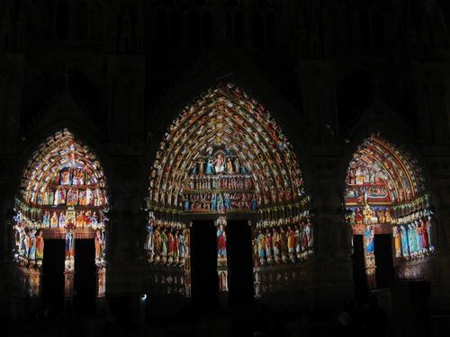Notre Dame Facade Light Show