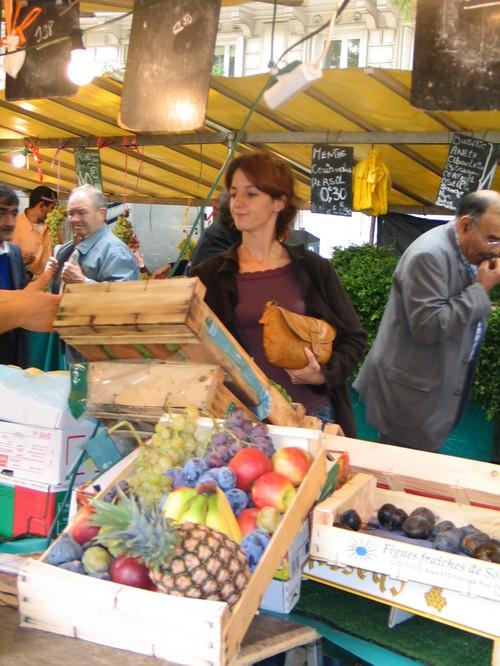 The market in Belleville