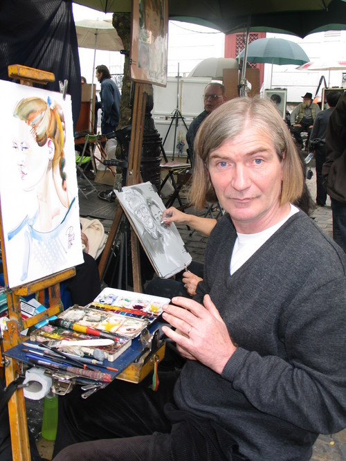 A good Montmartre Bohemian...he painted me just for fun and didn't even get cross when I didn't buy