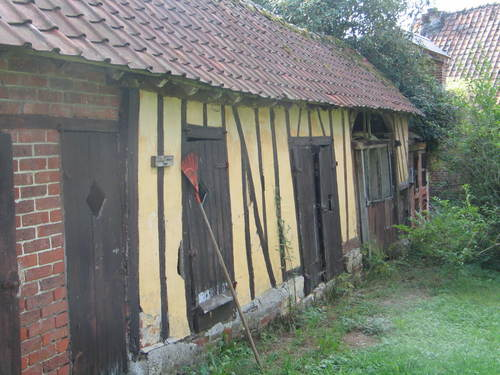 One of the courtyard buildings