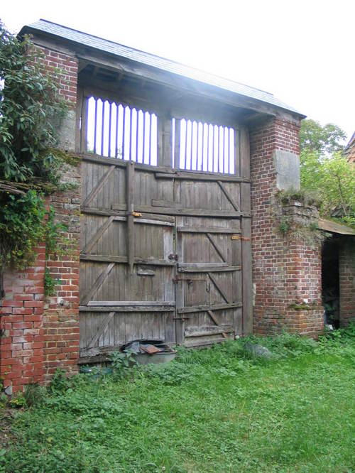 Gates into the courtyard
